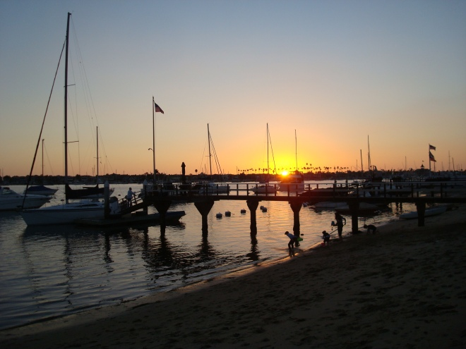 Sunset at Balboa Island.