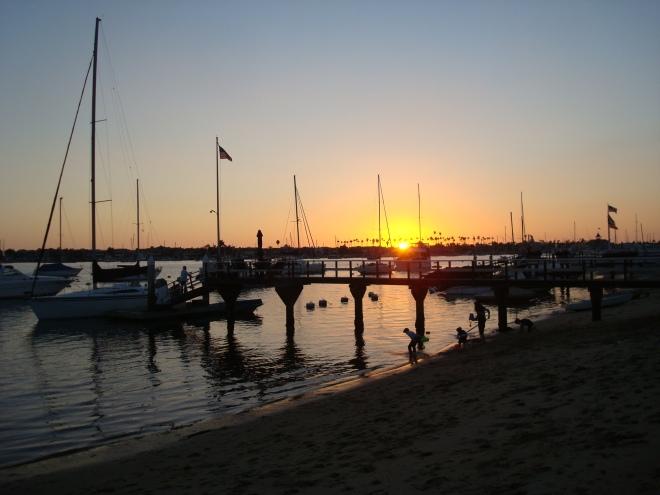 Sunset at Balboa Island.